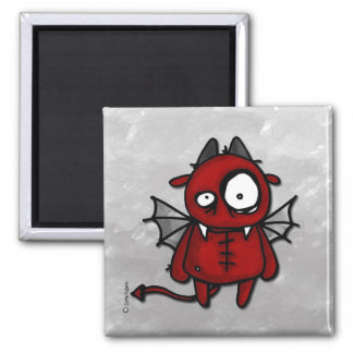 Neville the devil square magnet