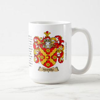 Neville the Origin the Meaning and the Crest Mugs