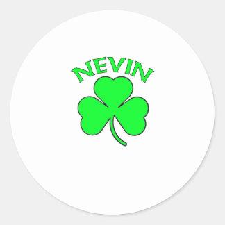 Nevin Round Sticker