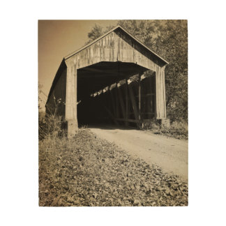 Nevins Covered Bridge Parke County Indiana Wood Wall Decor