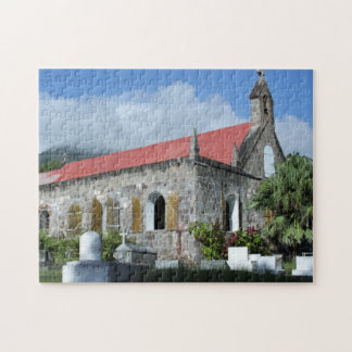 Nevis, West Indies Church Jigsaw Puzzle