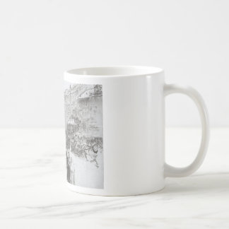 Nevsky Avenue by Ilya Repin Basic White Mug