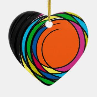 New 2014 graphic design ceramic heart decoration
