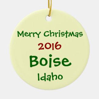 NEW 2016 BOISE IDAHO MERRY CHRISTMAS ORNAMENT