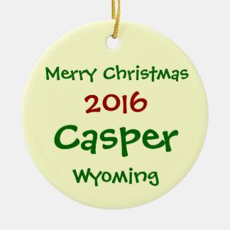 NEW 2016 CASPER WYOMING MERRY CHRISTMAS ORNAMENT
