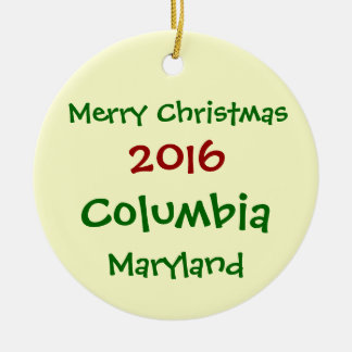 NEW 2016 COLUMBIA MARYLAND CHRISTMAS ORNAMENT