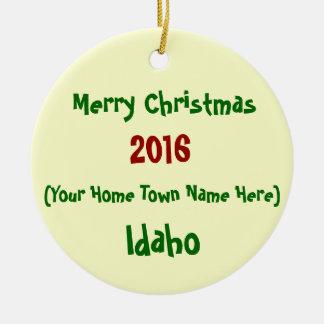 NEW 2016 CUSTOMIZABLE IDAHO CHRISTMAS ORNAMENT
