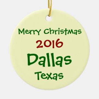 NEW 2016 DALLAS TEXAS MERRY CHRISTMAS ORNAMENT