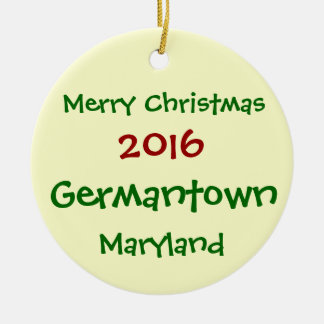 NEW 2016 GERMANTOWN MARYLAND CHRISTMAS ORNAMENT