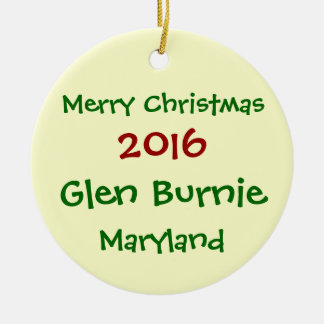 NEW 2016 GLEN BURNIE MARYLAND CHRISTMAS ORNAMENT