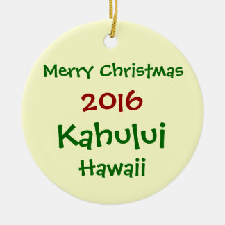 NEW 2016 KAHULUI HAWAII MERRY CHRISTMAS ORNAMENT