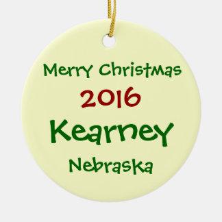 NEW 2016 KEARNEY NEBRASKA MERRY CHRISTMAS ORNAMENT