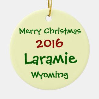 NEW 2016 LARAMIE WYOMING MERRY CHRISTMAS ORNAMENT