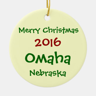 NEW 2016 OMAHA NEBRASKA CHRISTMAS ORNAMENT