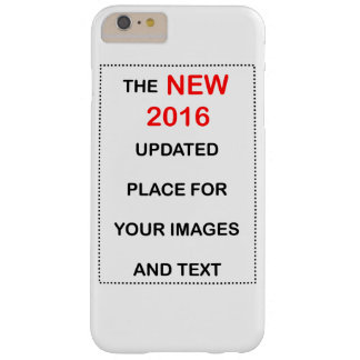 New 2016 place to upload images and text barely there iPhone 6 plus case