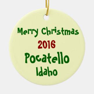 NEW 2016 POCATELLO IDAHO CHRISTMAS ORNAMENT