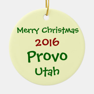 NEW 2016 PROVO UTAH CHRISTMAS HOLIDAY ORNAMENT