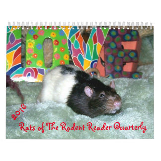 NEW!!! 2016 RATS of the Rodent Reader Calendar