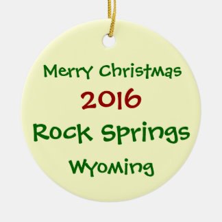 NEW 2016 ROCK SPRINGS WYOMING CHRISTMAS ORNAMENT