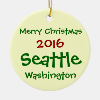 NEW 2016 SEATTLE WASHINGTON CHRISTMAS ORNAMENT