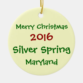 NEW 2016 SILVER SPRING MARYLAND CHRISTMAS ORNAMENT