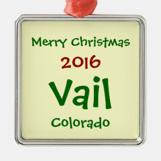 NEW 2016 VAIL COLORADO HOLIDAY CHRISTMAS ORNAMENT