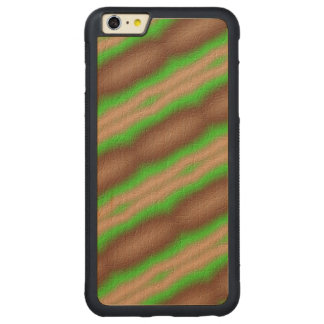 New Abstract pattern Carved Maple iPhone 6 Plus Bumper Case