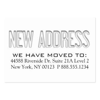 """New Address"" Address Change Notification Label Business Card Template"