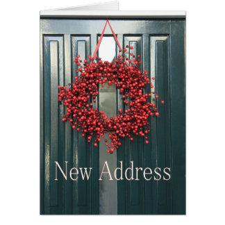 New Address Christmas Card