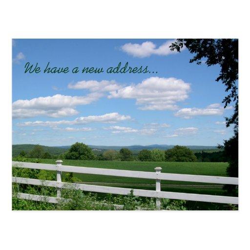 New Address Country Scenery Postcard