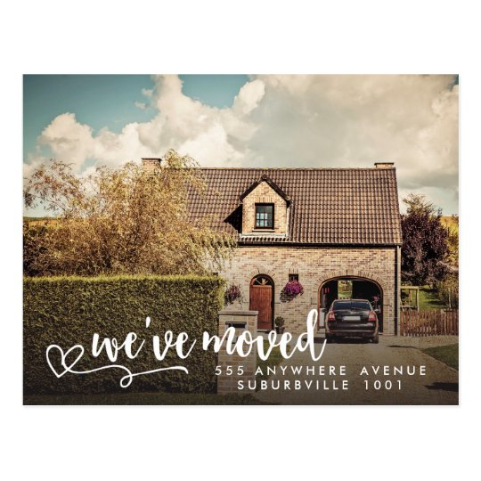 New Address Moving House Home Photo Postcard