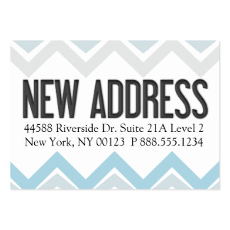 """""""New Address"""" Notification Label Business Card Template"""