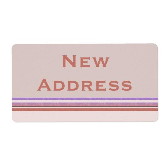 New Address Pastel Shipping Label