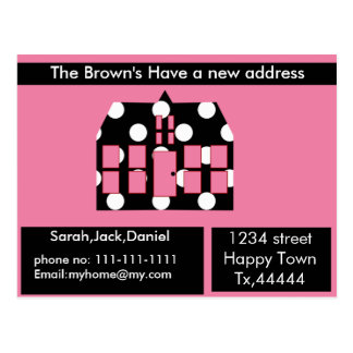 New address postcard