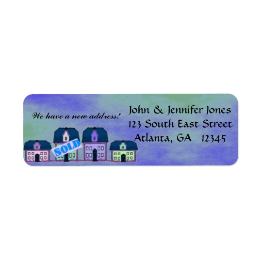 New address return address label