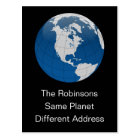 New Address Same Planet Postcard