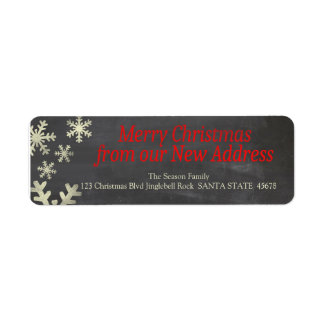 New Address snowflake holiday Label Return Address Label