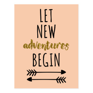 New Adventures Quote Postcard
