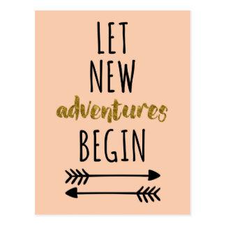 New Adventures Quote Postcard