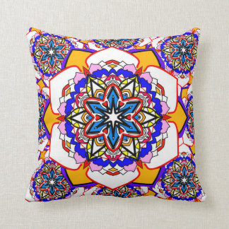 New age abstract flowers colorful cushion