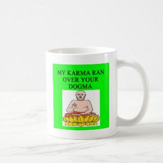new age buddhist karma joke mugs