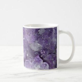 New Age Crystal Healing Amethyst Crystals Basic White Mug