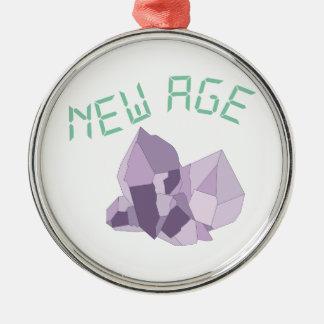 New Age Silver-Colored Round Ornament