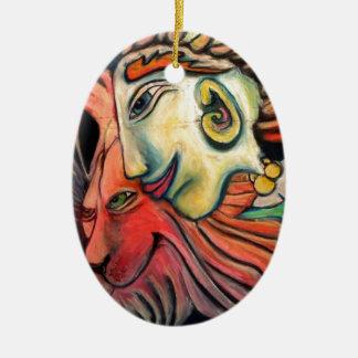 New Age Design Items Ceramic Oval Decoration