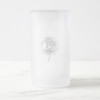 New Age Frosted Glass Mug
