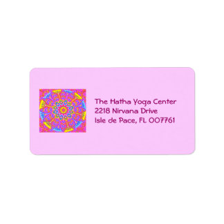 New Age Mandala Label Address Label