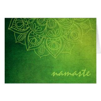 New Age Mehendi Style Kiwi Toned Mandala Card