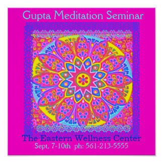 New Age Pink Mandala Poster 1