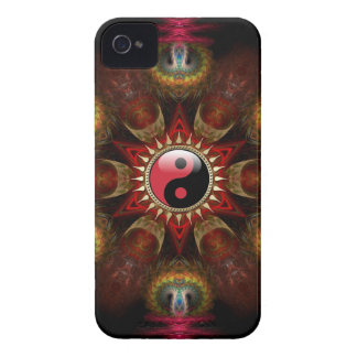 New Age Red YinYang Fractal Star Case-Mate Case-Mate iPhone 4 Cases