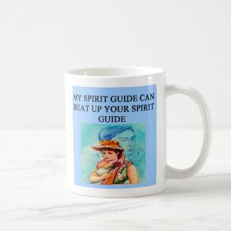 new age spiri guide joke, new age spiri guide joke basic white mug